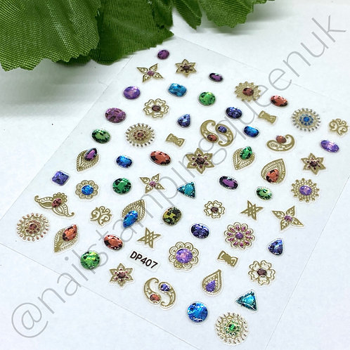 Nail Jewel Stickers - #407