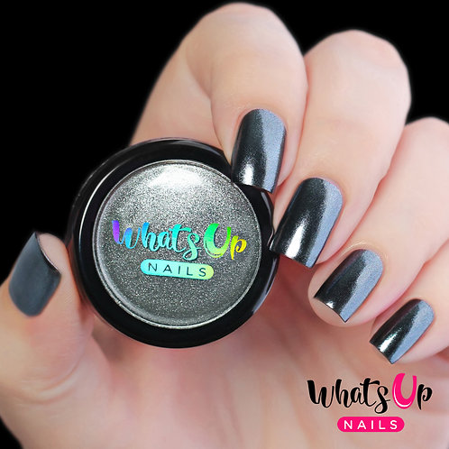 Whats Up Nails Black Chrome Powder