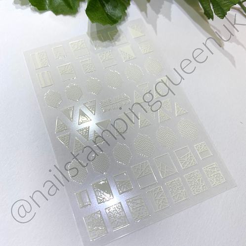 Mosaic White Stickers