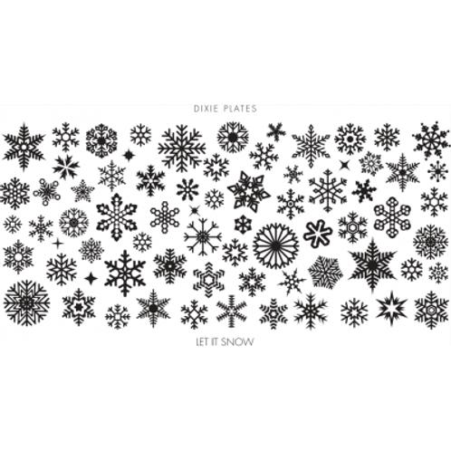 Dixie Mini Let It Snow Plate