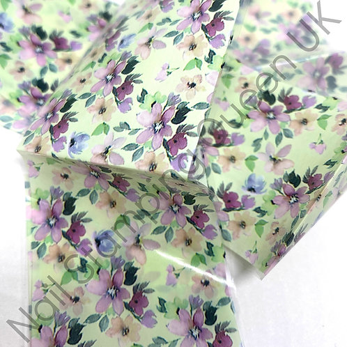 Wisteria Floral Transfer Foil