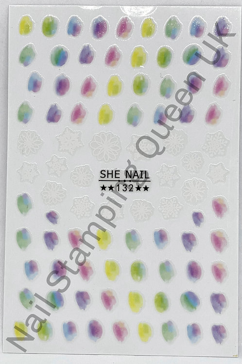 Watercolour Wash Stickers