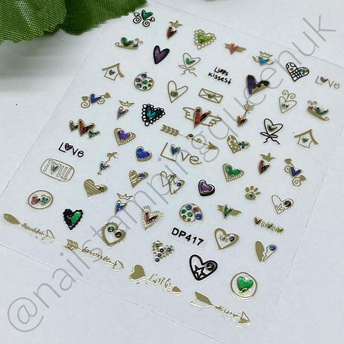 Nail Jewel Stickers - #417