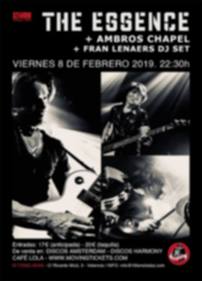 the essene live 16 Toneladas, Valencia, Spainlive paris france