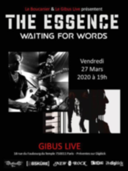 The Essence at Gibus Live, Paris France, 27th March 2020