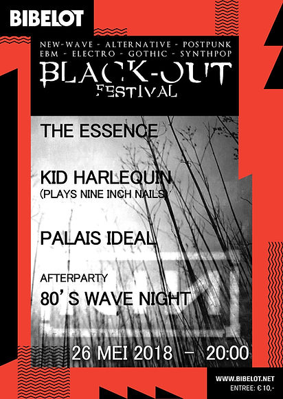 blackout festival the essence live concert bibelot dordrecht new wave cure robert smith