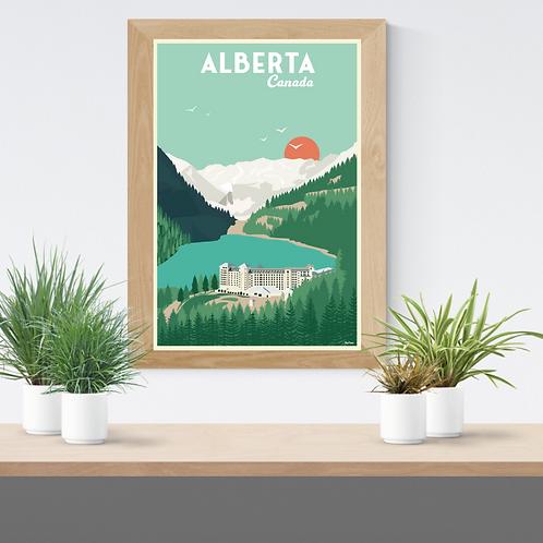 ALBERTA POSTER (Lake Louise reedition)