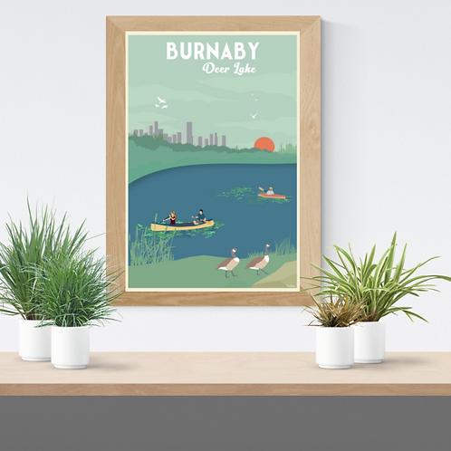 BURNABY DEER LAKE POSTER