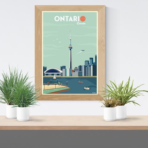 ONTARIO POSTER (Toronto reedition)