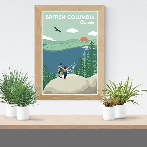 BRITISH COLUMBIA POSTER (Deep cove reedition)