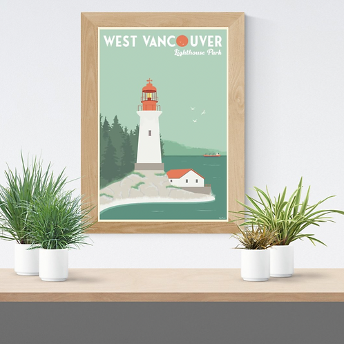 WEST VANCOUVER POSTER (Lighthouse park)