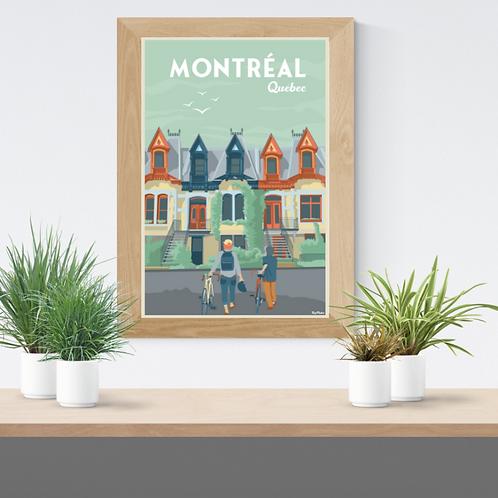Montréal poster (Le Plateau réédition)