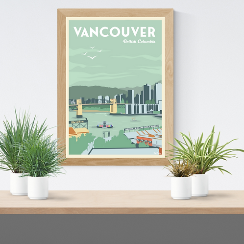 VANCOUVER POSTER (Granville island reedition)
