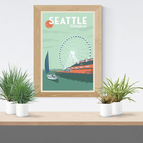 SEATTLE WATERFRONT POSTER