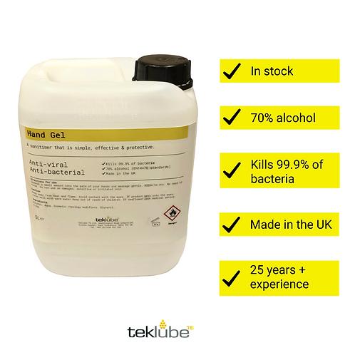 5L Antibacterial Hand Sanitiser Gel | 70% Alcohol