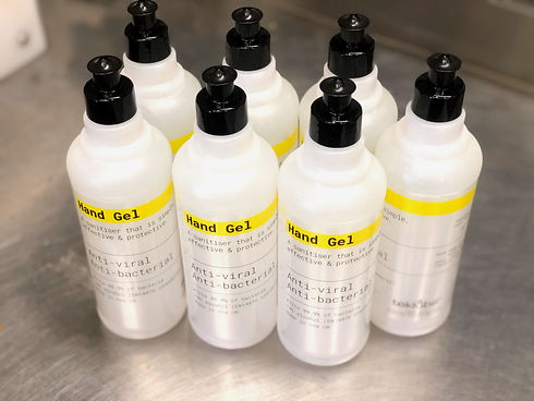 Antibacterial hand gel santisier teklube 70% alcohol