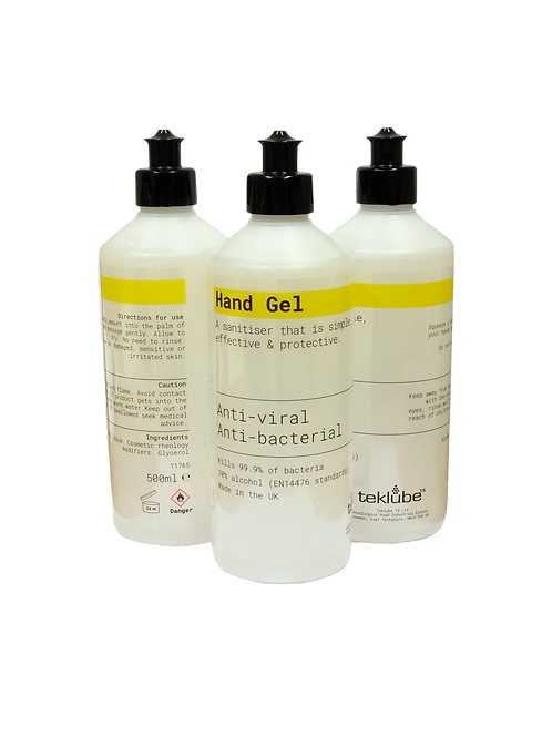 16 x 500ml Antibacterial Hand Sanitiser Gel | 70% Alcohol