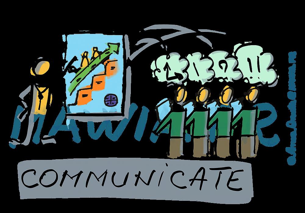Le Product Owner communique sur les caractéristiques du produit