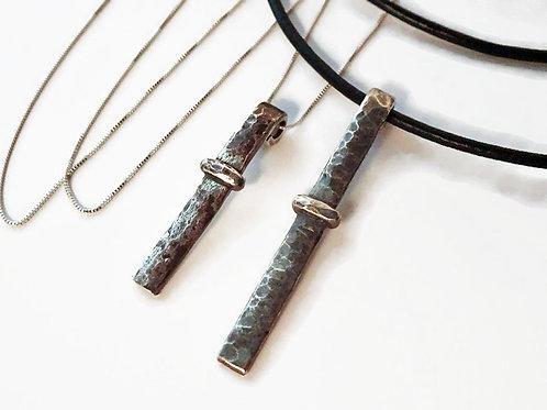 Sporran Key Bar Necklace - Solid Sterling