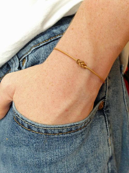 Set of 10 - Wish Bracelets - Leather Eternity Knot -
