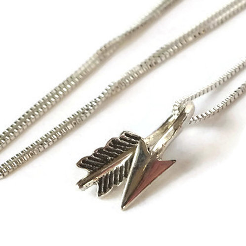 Arrow Necklace - Solid Sterling