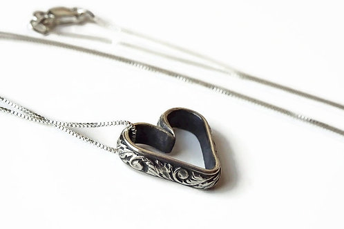 Thistle Heart Necklace - Solid Sterling