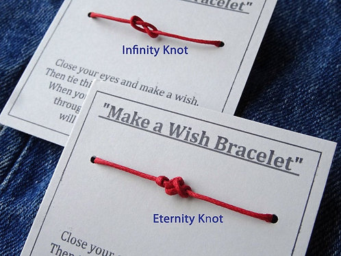 Red Cord of Protection - Make a Wish Bracelets