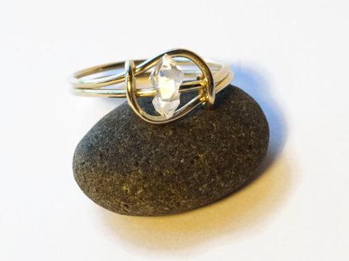Standing Stone - Herkimer Diamond - 14ktgf