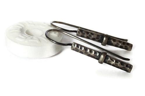 Rustic Sporran Key Earrings - Solid Sterling