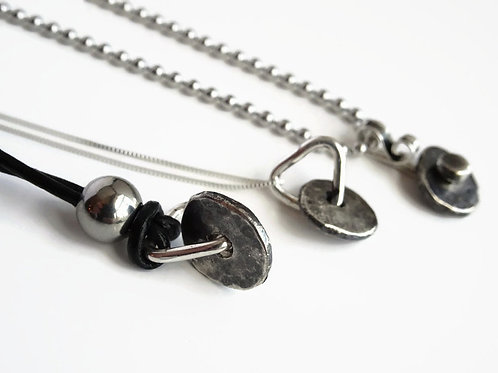 Worry Necklace - Fidget spinner in solid sterling