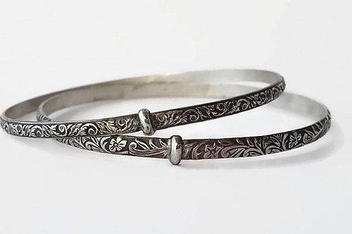 Bangle Bracelet - Solid Sterling