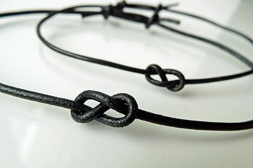 Leather Infinity Knot - Set