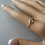 Thumbnail: Sterling silver heart knot ring