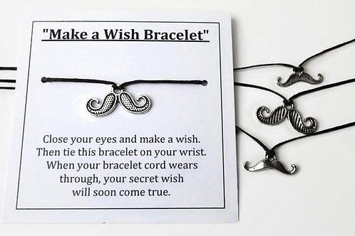Make a wish bracelet sets - Mustaches