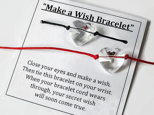 Swarovski Heart - Make a Wish Bracelet