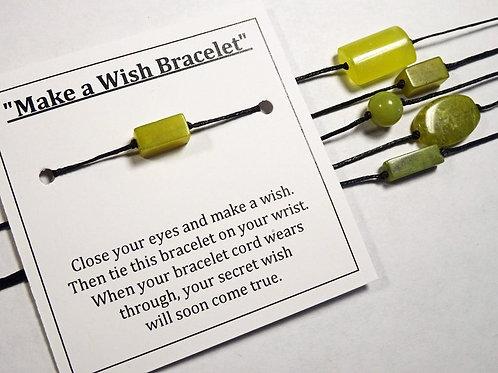 Lucky Yellow Jade - Make a wish bracelet(s)
