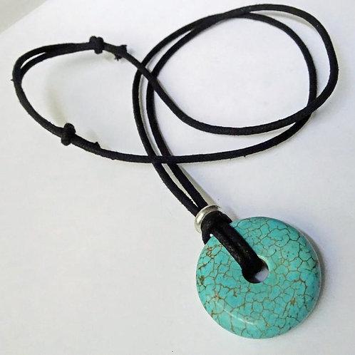 Stone Circle necklace - Adjustable - Eternity - Karma