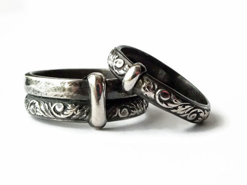 SET- Thistle and Sporran Key - Sterling Silver ©