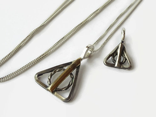 SET - 40% off Harry Potter Deathly Hallows - Sterling necklaces - One of a kind