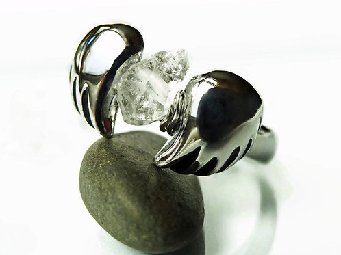 Faith Ring - Herkimer Diamond and Stainless Steel