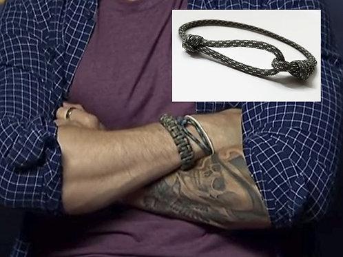 "Loop Survival Paracord Bracelet - Tom Hardy ""Venom"" style - Adjustable"