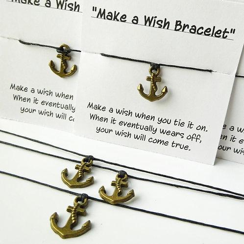 Set of 5 Anchor Wish Bracelet