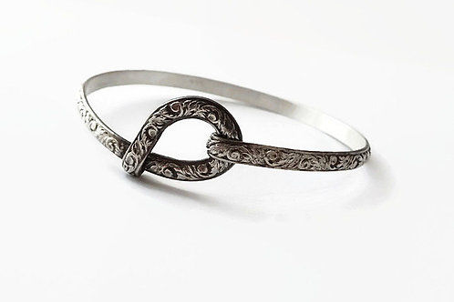 Thistle Pattern Bracelet - Solid Sterling - All sizes