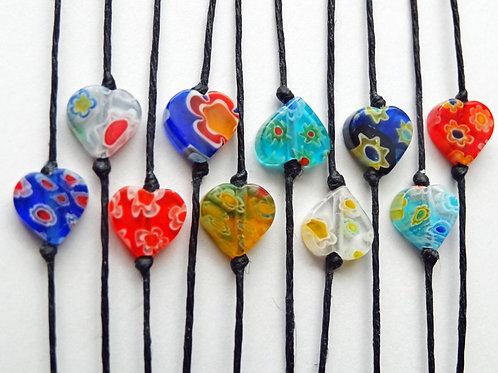 Set of 5 - Heart Make a Wish Bracelets (or ring)