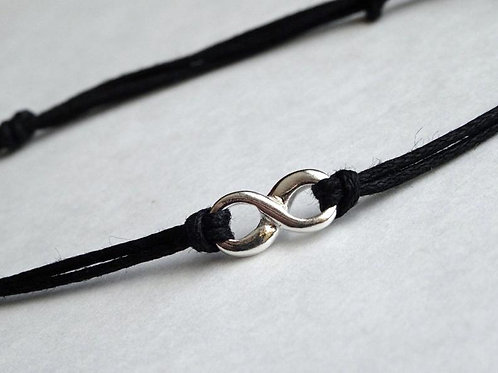 Infinity bracelet - solid Sterling Silver