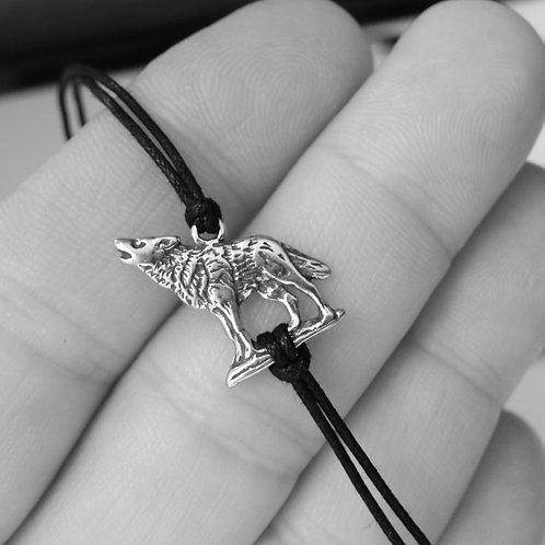 Wolf Bracelet - Solid Sterling Silver
