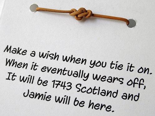 3 Wish Bracelets - Leather Eternity Knot - 1743 Scotland