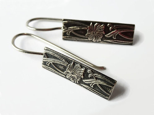Wide Celtic Filigree Earrings - Solid Sterling