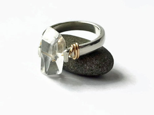 The Stone - Solid Sterling & 14ktgf - Spinner