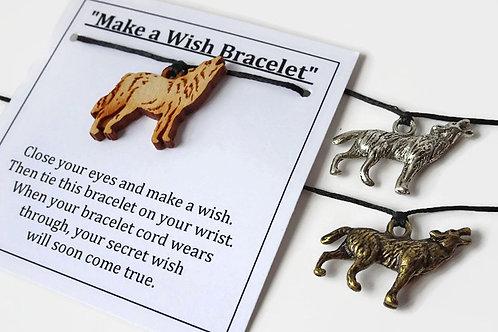 Sets of 5 Wolf Bracelets - Make a Wish